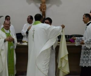 Celebração Eucarística em comemoração ao Jubileu de Prata de Ordenação Presbiteral de Dom Paulo Jackson e Ordenação Diaconal dos jovens Antônio, Edjalma, Galdino e Rodrigo