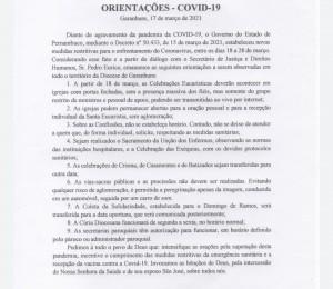 Orientação covid 19