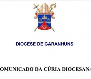 COMUNICADO DA CÚRIA DIOCESANA