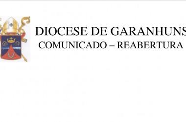 COMUNICADO DE REABERTURA DAS IGREJAS NO TERRITÓRIO DIOCESANO